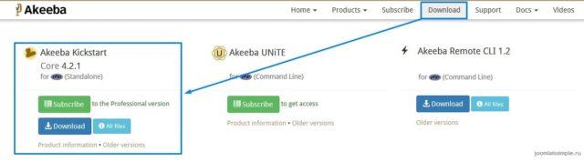 Скрипт Akeeba Kikstart для восстановления сайта